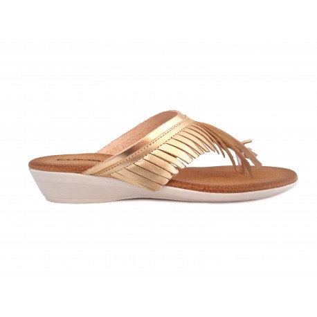 Oro Spain Piel Made In Color De Sandalia Cumbia 123 KTl13FJc